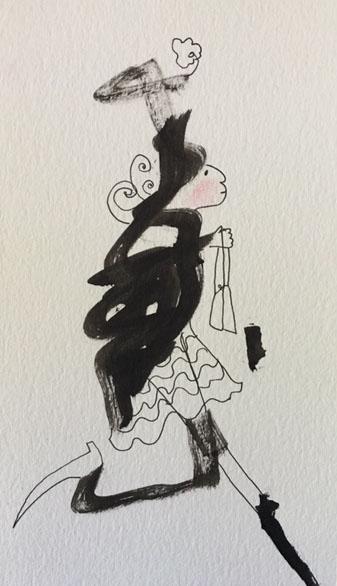Ink Blot Lady $35.00