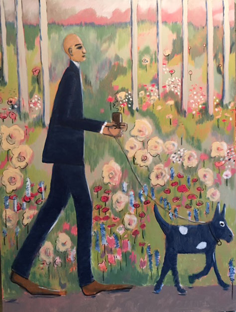 Acrylic on Canvas - Morning Walk - sold