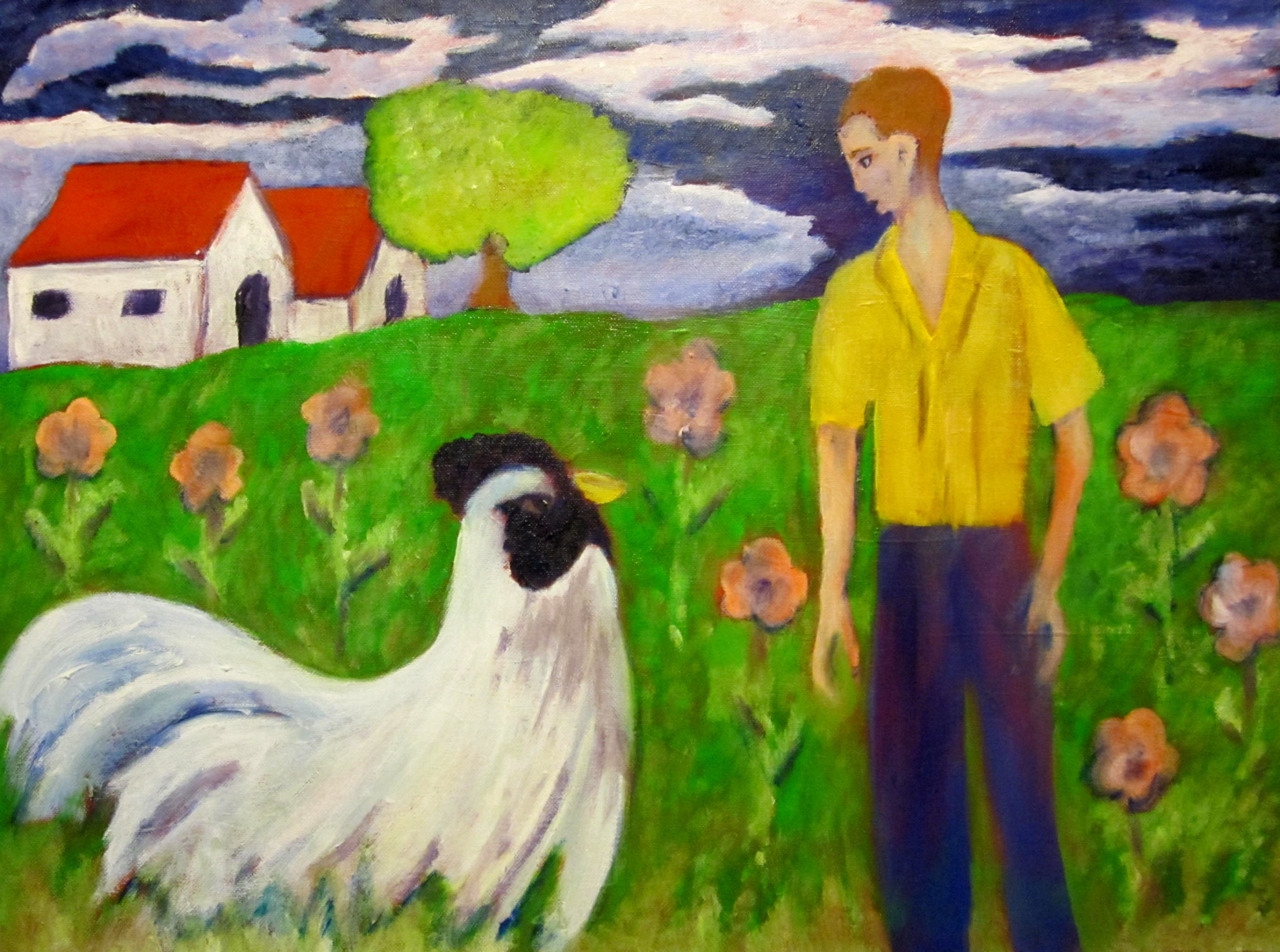 Acrylic on Canvas - The Big Chicken was Back - $400