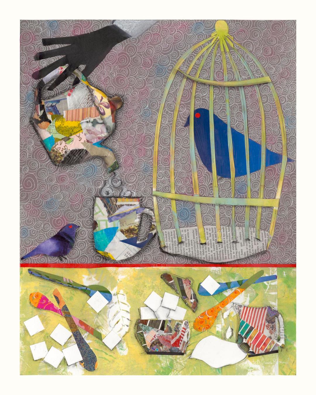 """Blackbird Tea Salon 20"""" x 16"""" $325. prints also available"""