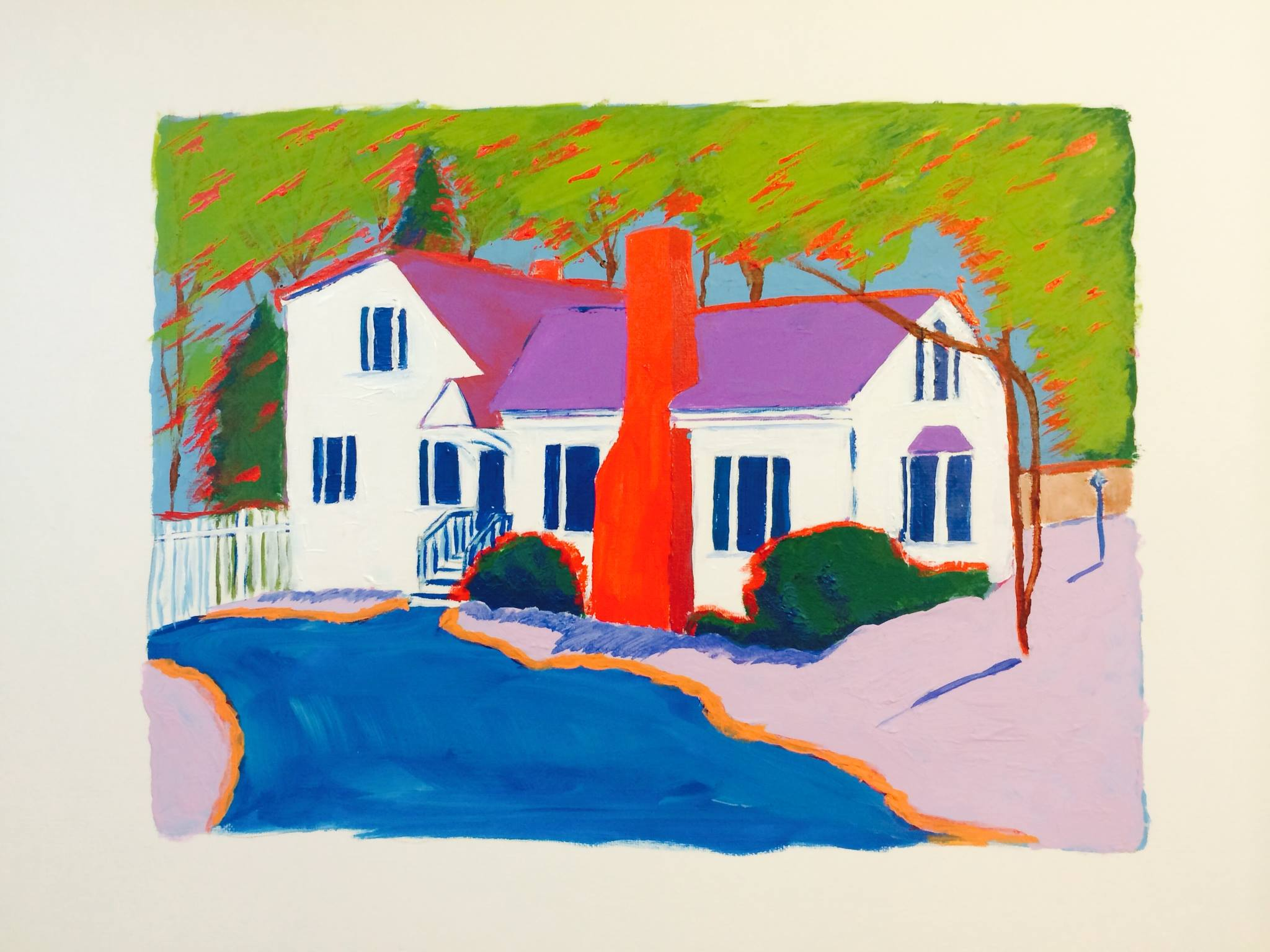 Maine home acrylic