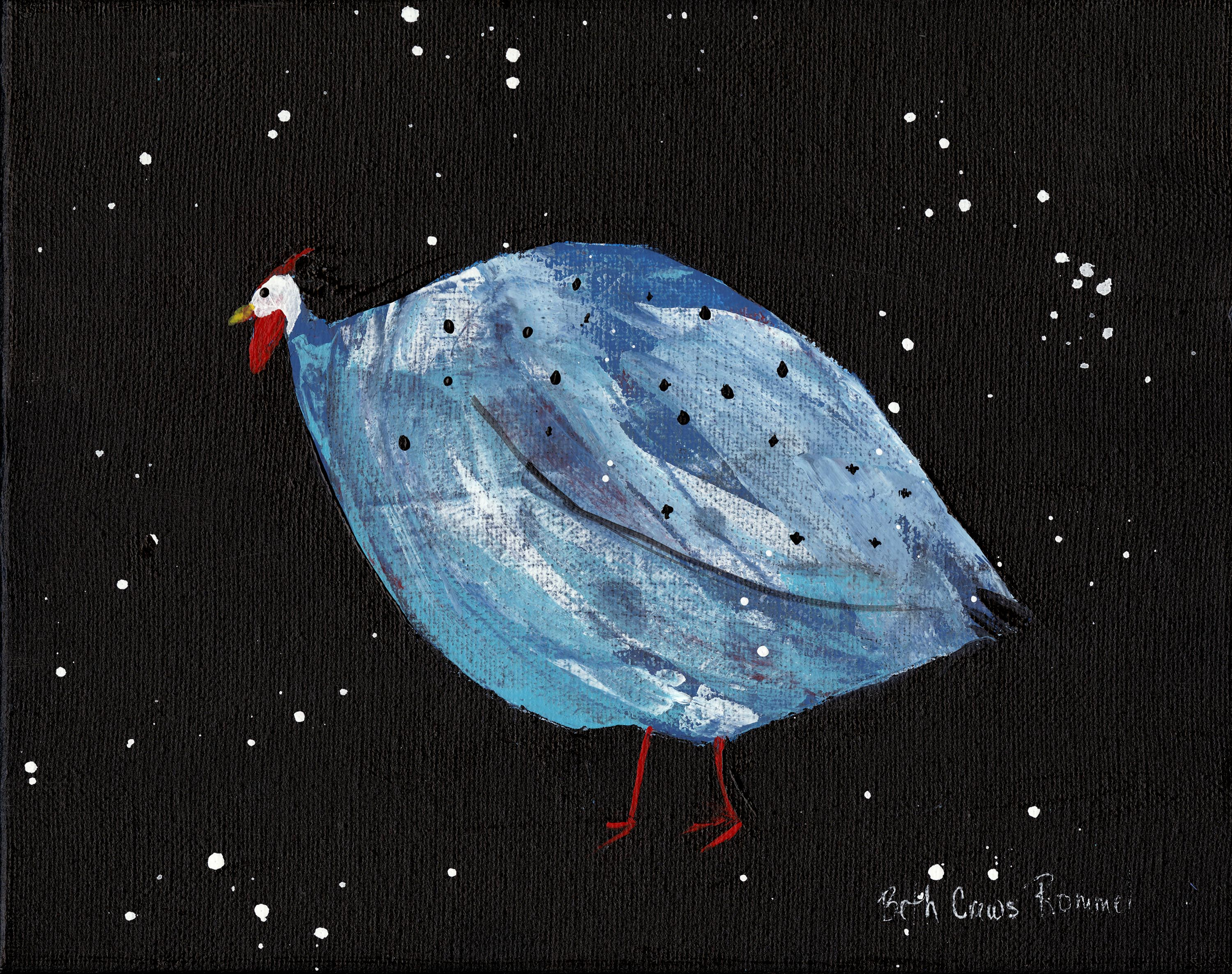 Acrylic on Canvas - Guinea Hen - nfs