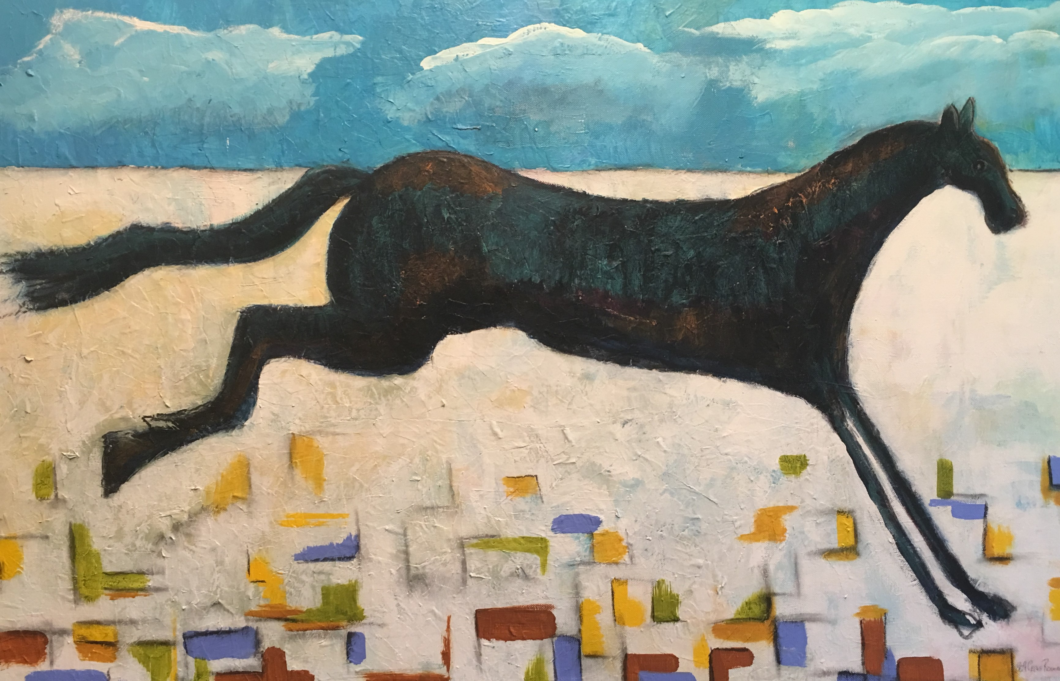 Acrylic and Collage Rodeo for sale